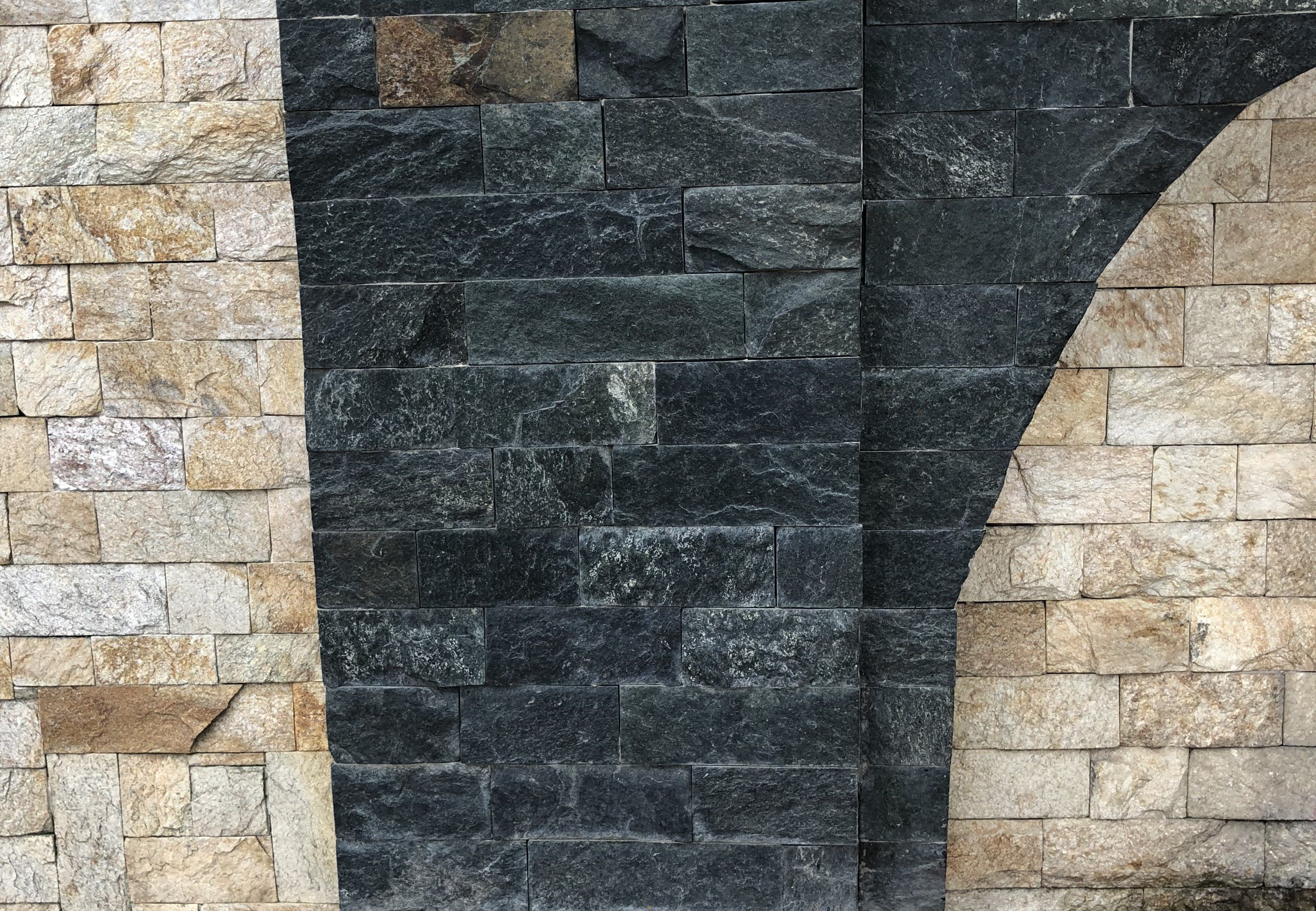 Dimensioned Elements Green - natural stone Gneiss
