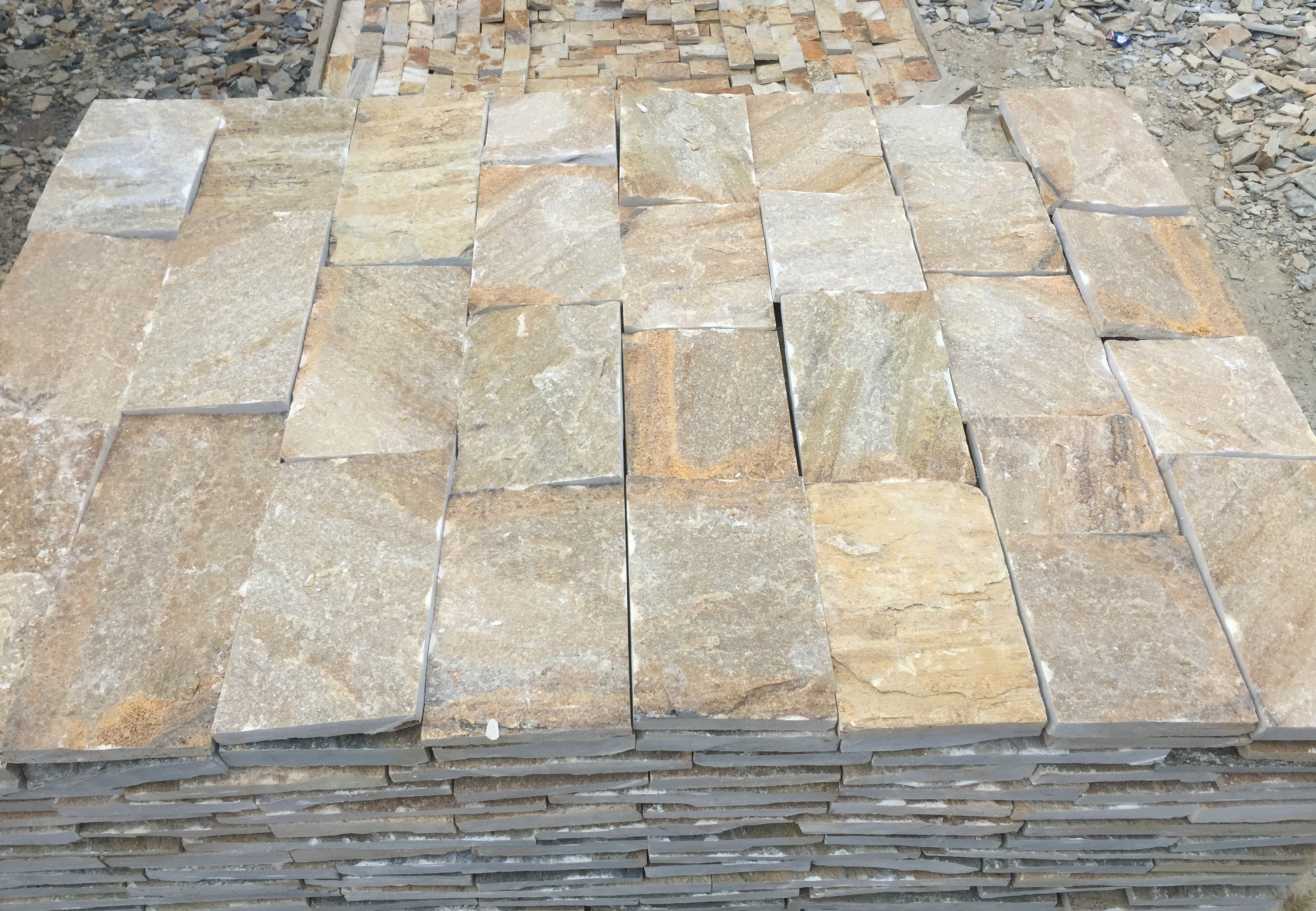 Dimensioned Elements Pink - natural stone Gneiss