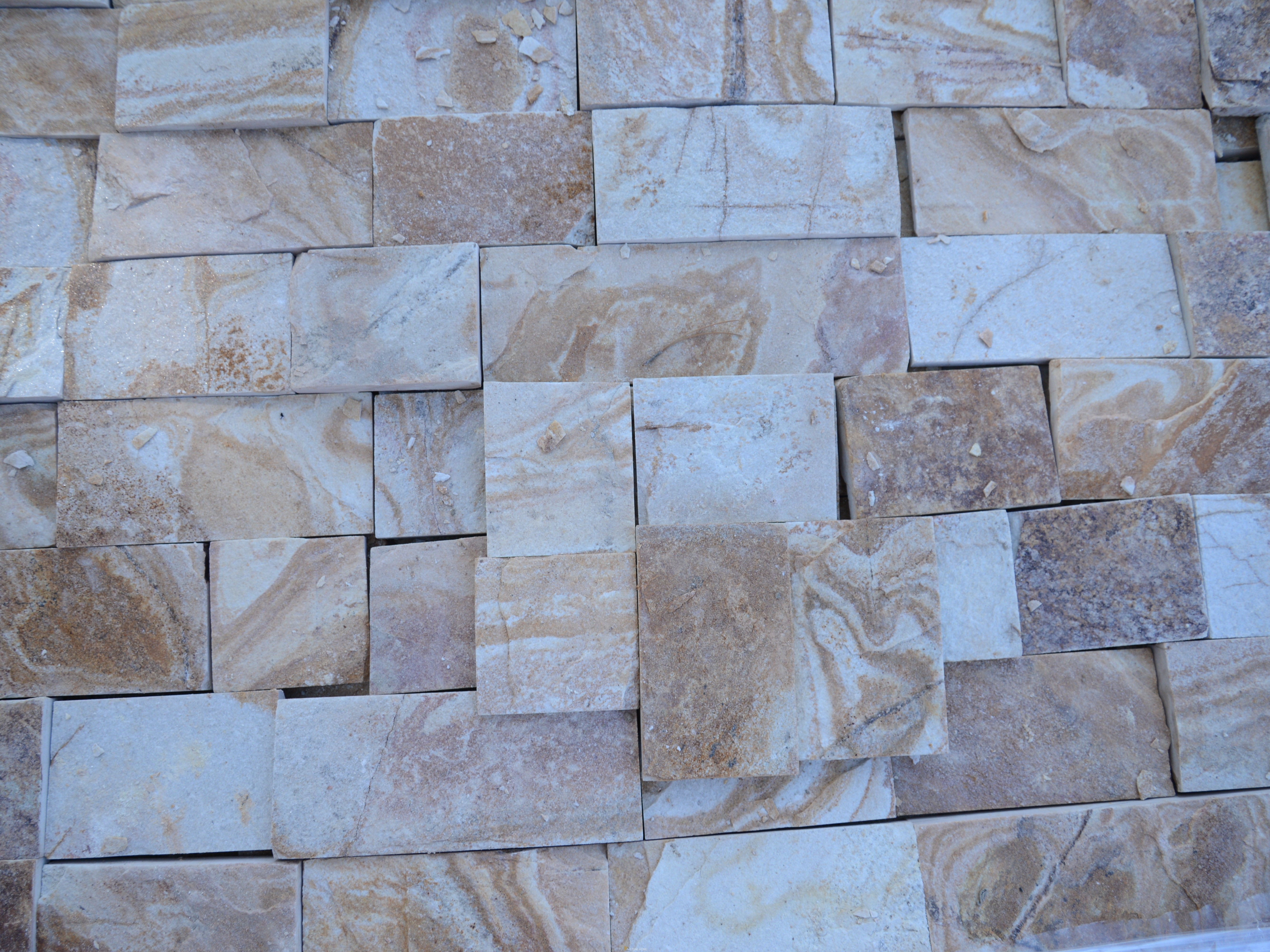 Dimensioned Elements Yellow - natural stone Gneiss