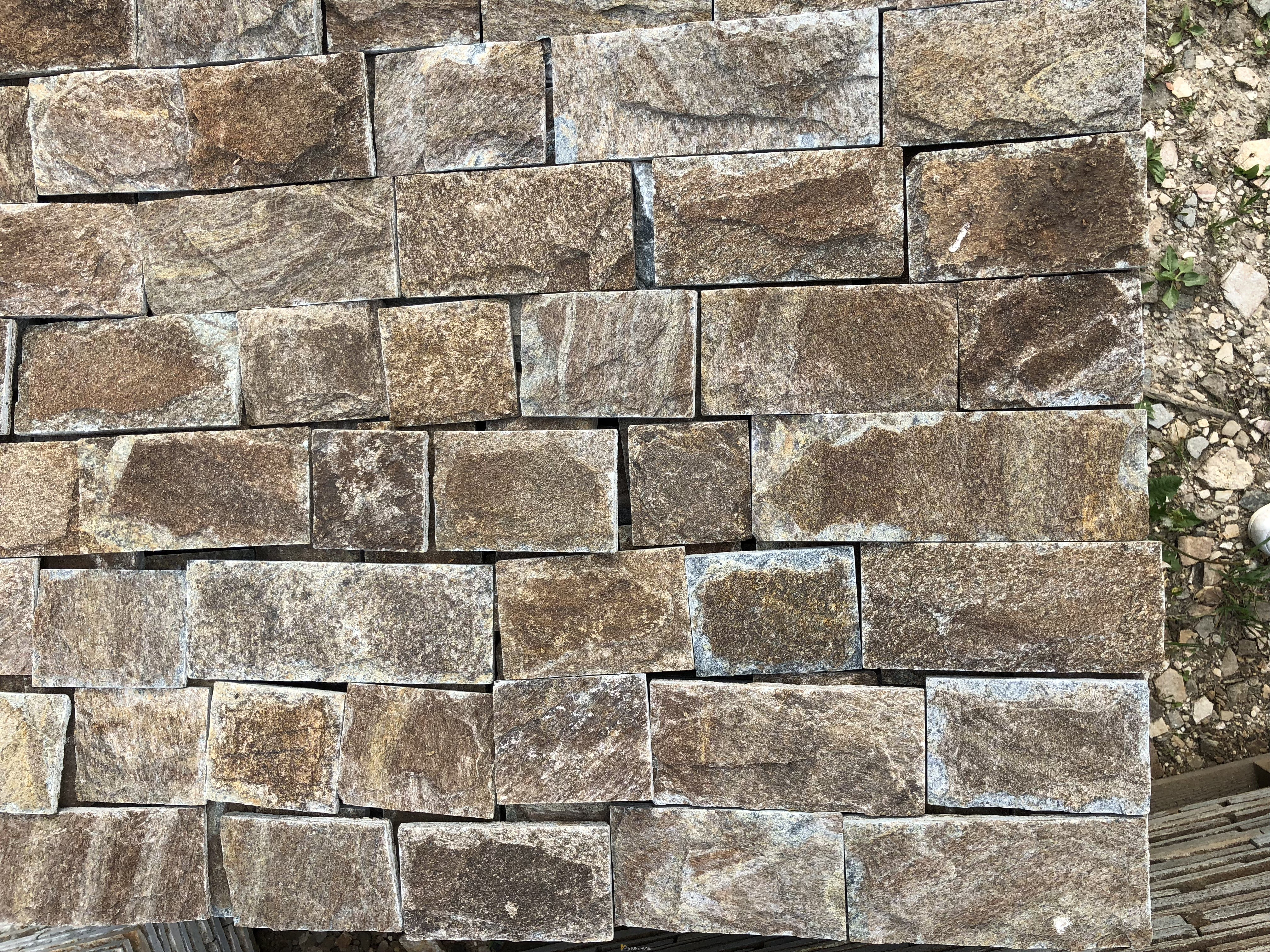 Dimensioned Elements GLIZ Formed Brown - natural stone Gneiss