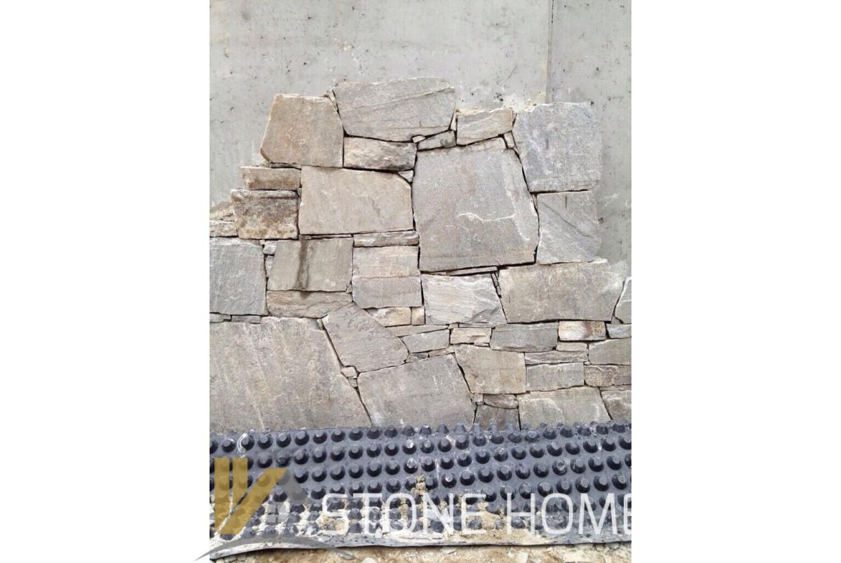 Бяла зидария - естествен камък Гнайс