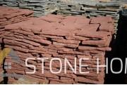 Многоъгълни плочи Неоформени Червени - естествен камък Гнайс