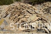 Многоъгълни плочи Неоформени Тъмно жълти - естествен камък Гнайс