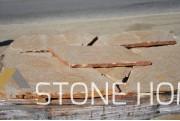 Многоъгълни плочи Неоформени Жълти - естествен камък Гнайс