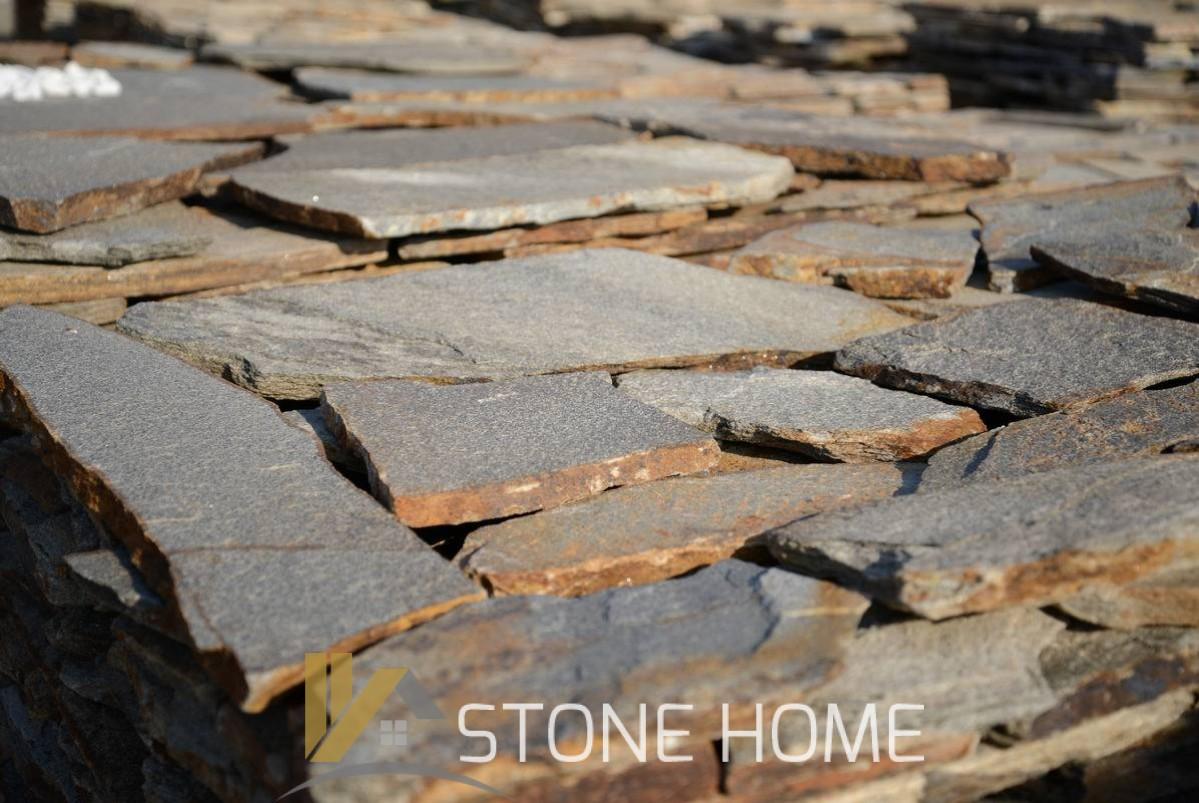 Многоъгълни плочи Неоформени Металик - естествен камък Гнайс