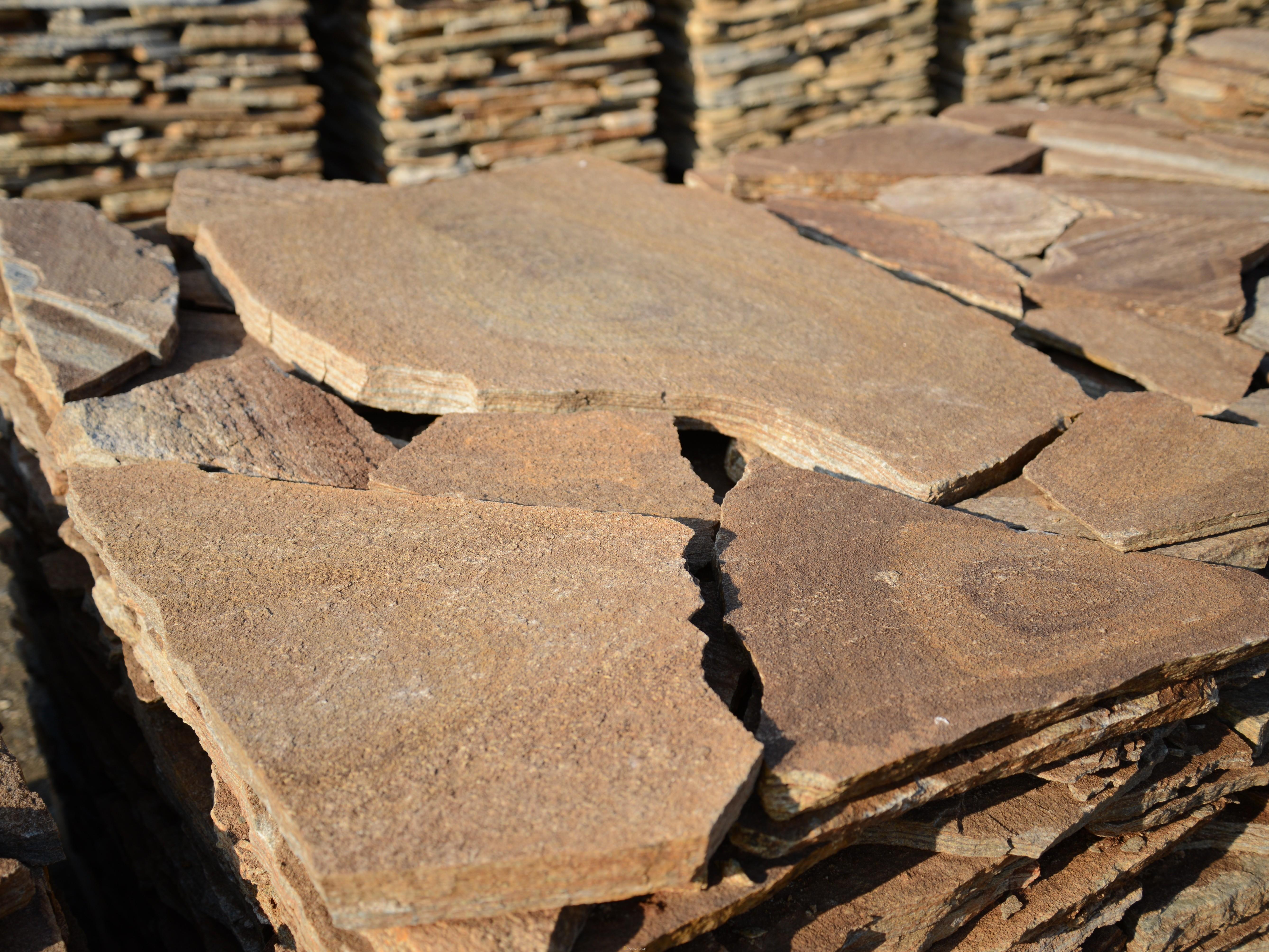 Многоъгълни плочи Неоформени Кафяви - естествен камък Гнайс