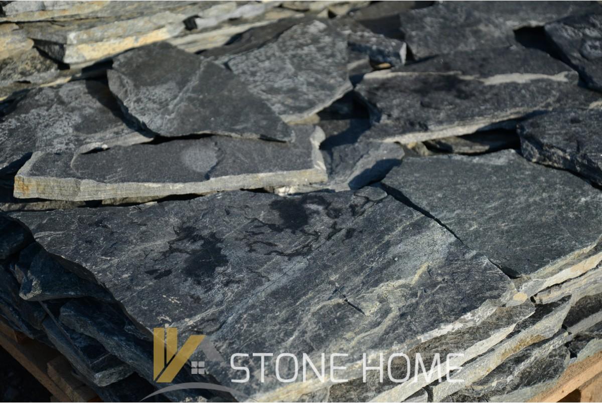 Многоъгълни плочи Неоформени Зелени - естествен камък Гнайс