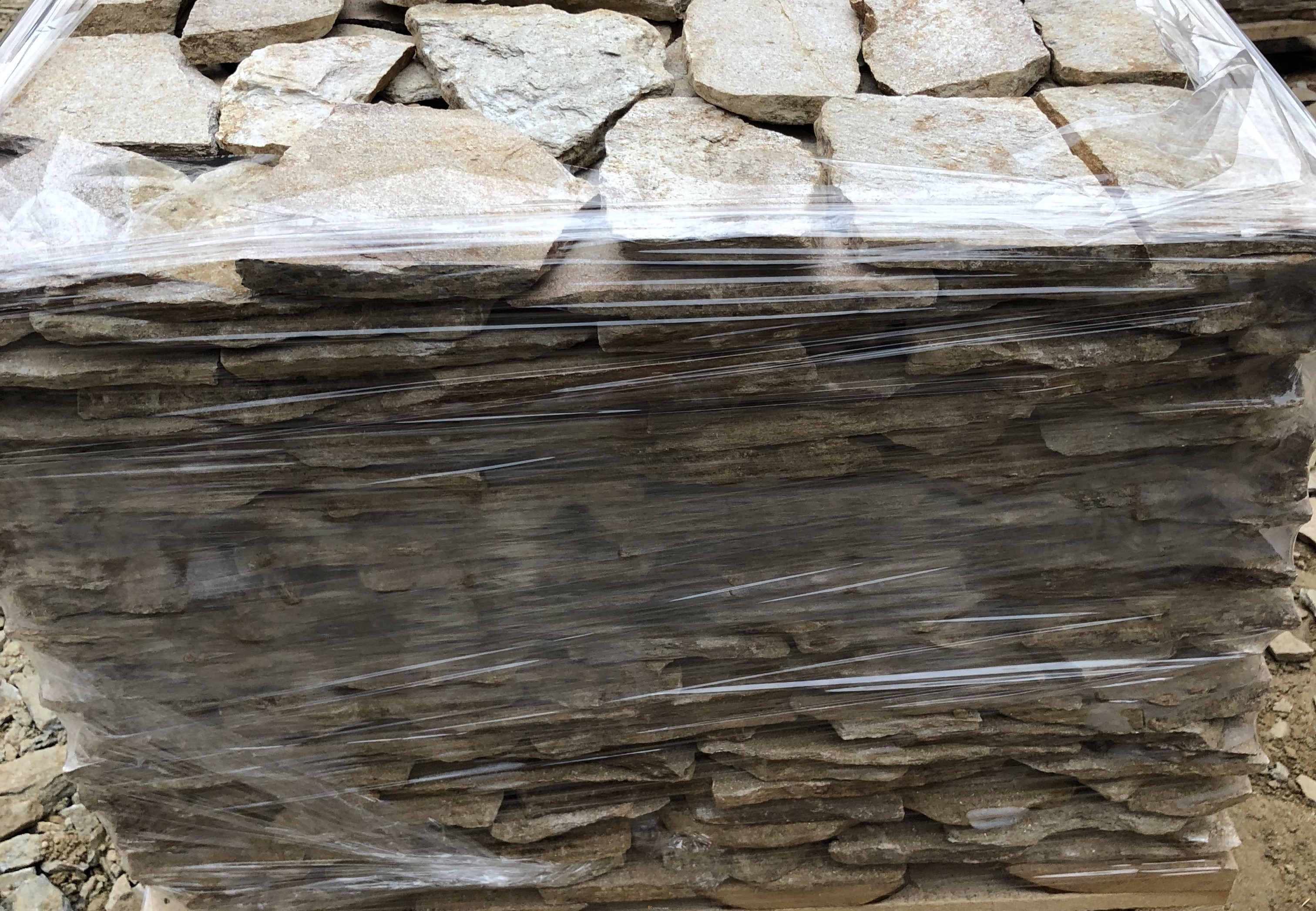 Facing Unformed Yellow - natural stone Gneiss