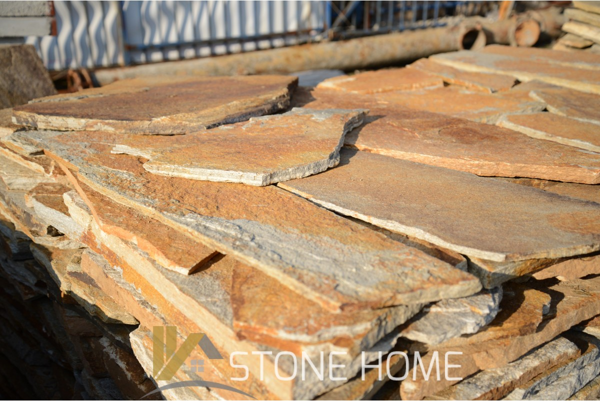 Polygonal plates Unformed Colored - natural stone Gneiss