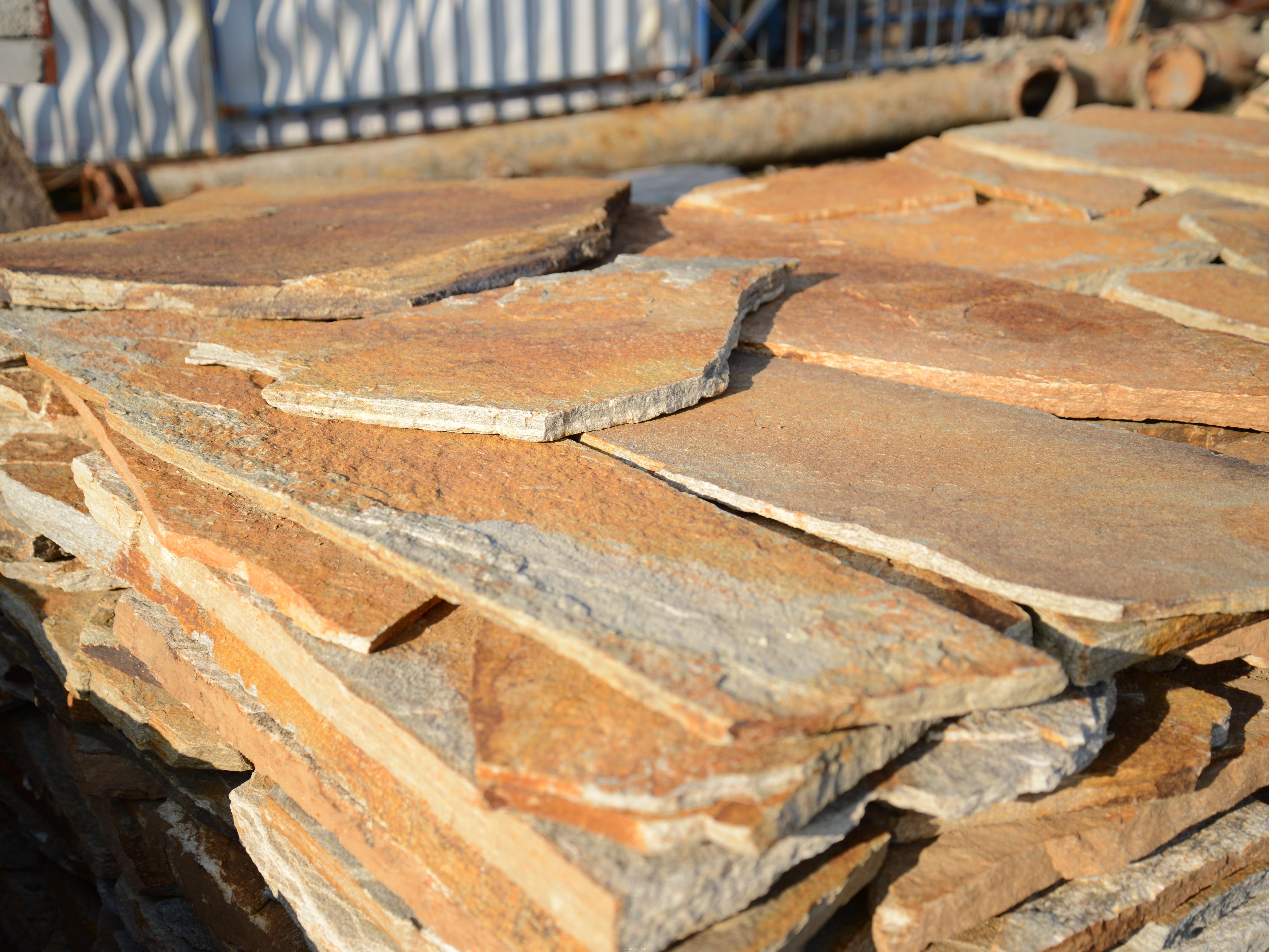 Многоъгълни плочи Неоформени Петнисти - естествен камък Гнайс