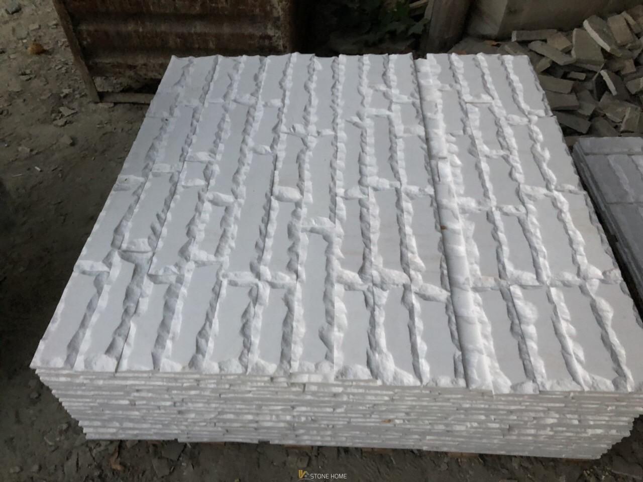 Оразмерени елементи - ГЛИЦ Оформени Бял мрамор - естествен камък Гнайс